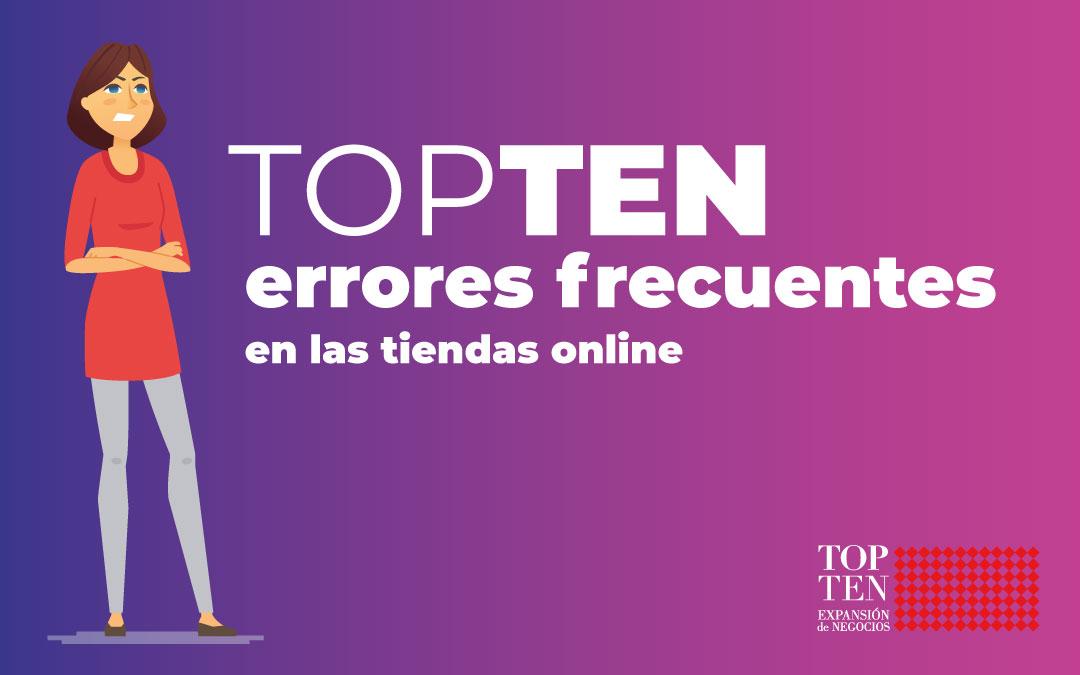 Infografía: TOPTEN errores frecuentes en las tiendas online